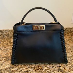 Fendi Whipstitch Peekaboo Medium Satchel